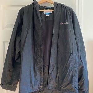 Black Columbia Rain/Wind Jacket